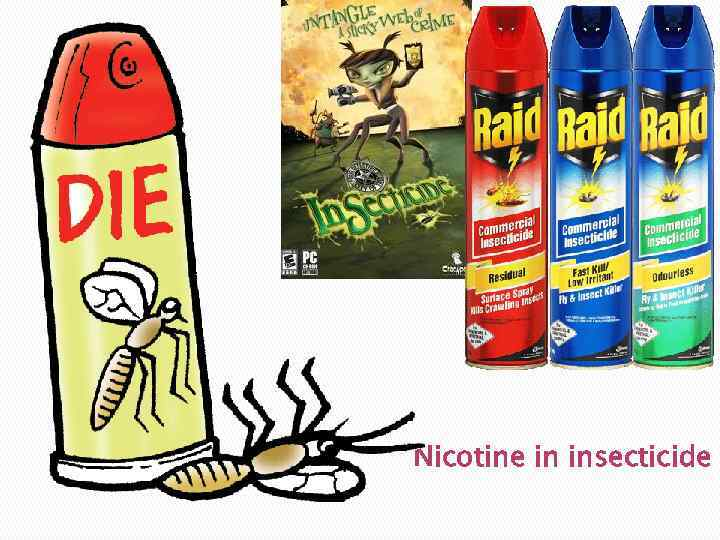Nicotine in insecticide