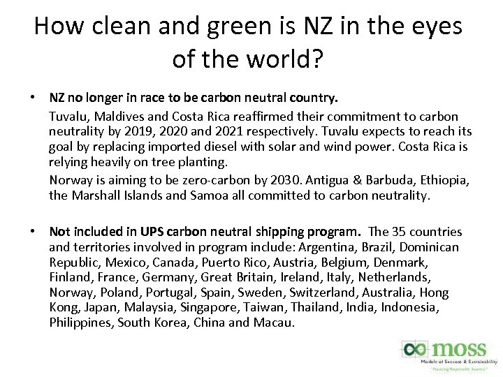 How clean and green is NZ in the eyes of the world? • NZ