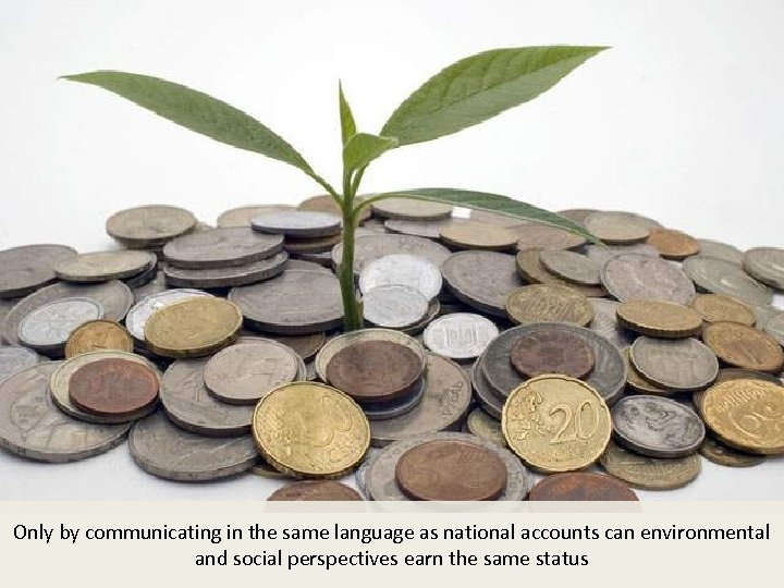Only by communicating in the same language as national accounts can environmental and social