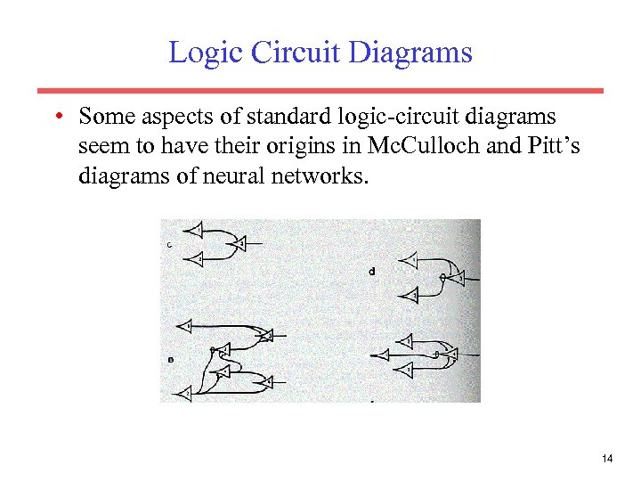 Logic Circuit Diagrams • Some aspects of standard logic-circuit diagrams seem to have their