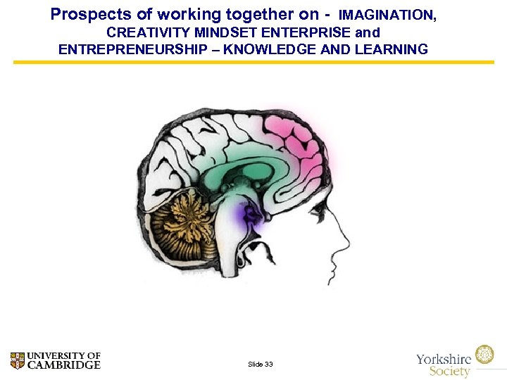 Prospects of working together on - IMAGINATION, CREATIVITY MINDSET ENTERPRISE and ENTREPRENEURSHIP – KNOWLEDGE