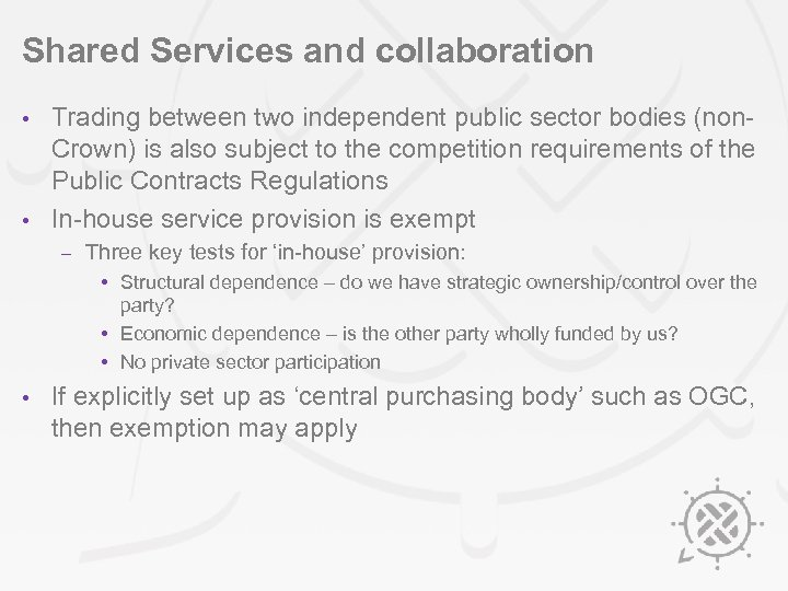 Shared Services and collaboration Trading between two independent public sector bodies (non. Crown) is