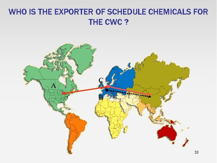 WHO IS THE EXPORTER OF SCHEDULE CHEMICALS FOR THE CWC ? A C B