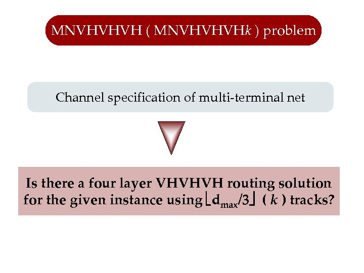 MNVHVHVH ( MNVHVHVHk ) problem Channel specification of multi-terminal net Is there a four