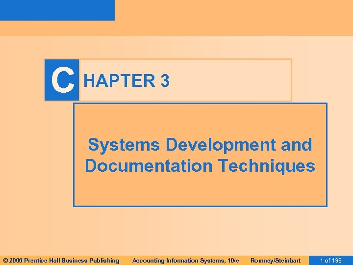 C HAPTER 3 Systems Development and Documentation Techniques © 2006 Prentice Hall Business Publishing