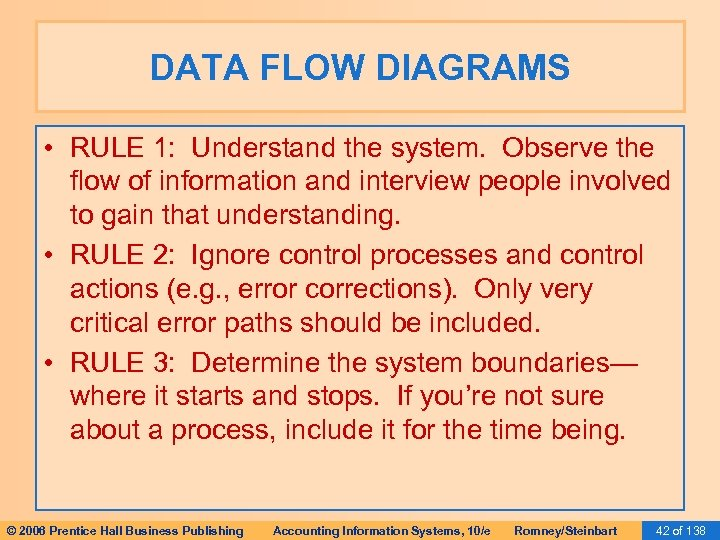 DATA FLOW DIAGRAMS • RULE 1: Understand the system. Observe the flow of information
