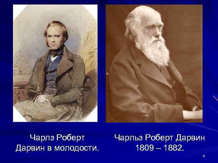 Чарлз Роберт Дарвин в молодости. Чарльз Роберт Дарвин 1809 – 1882. 4