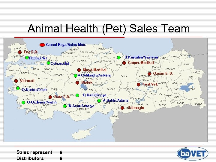 Animal Health (Pet) Sales Team Cemal Kaya/Sales Man. Ece E. D. B. Kurtulan/Samsun Cemre