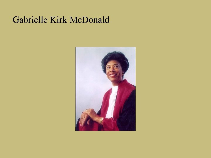 Gabrielle Kirk Mc. Donald