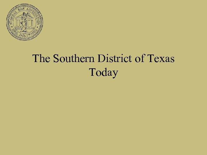 The Southern District of Texas Today