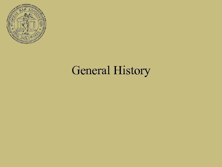 General History