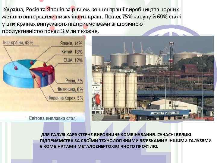 Україна, Росія та Японія за рівнем концентрації виробництва чорних металів випередили низку інших