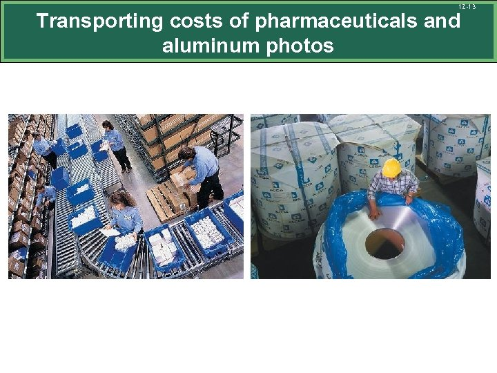 12 -13 Transporting costs of pharmaceuticals and aluminum photos