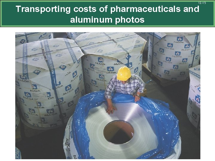 12 -15 Transporting costs of pharmaceuticals and aluminum photos