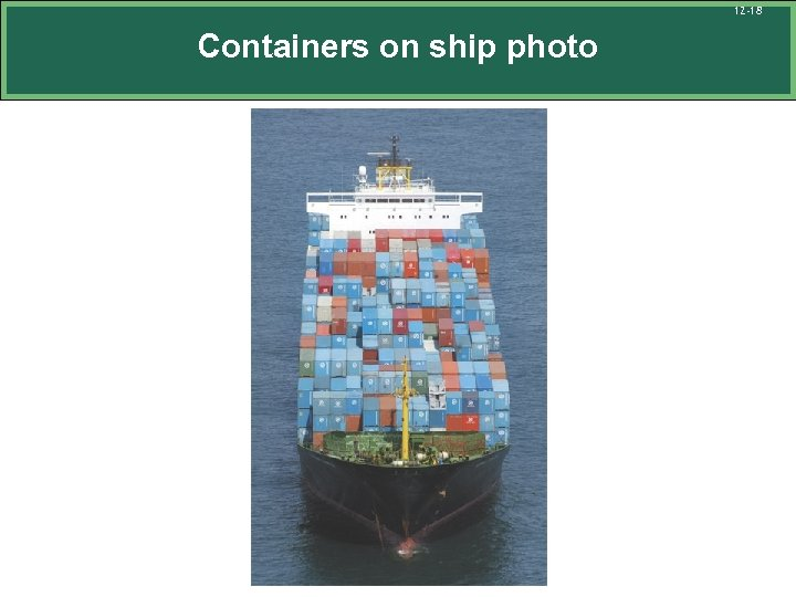 12 -18 Containers on ship photo