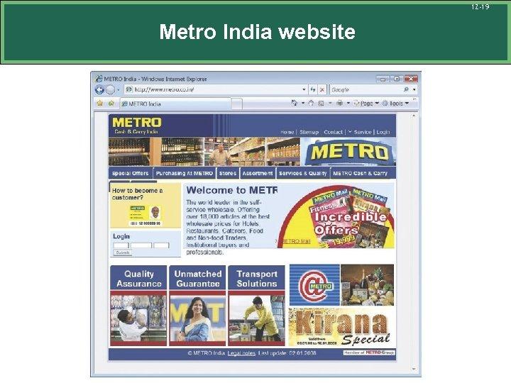 12 -19 Metro India website