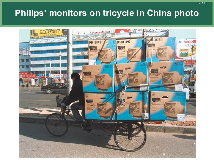 12 -34 Philips' monitors on tricycle in China photo