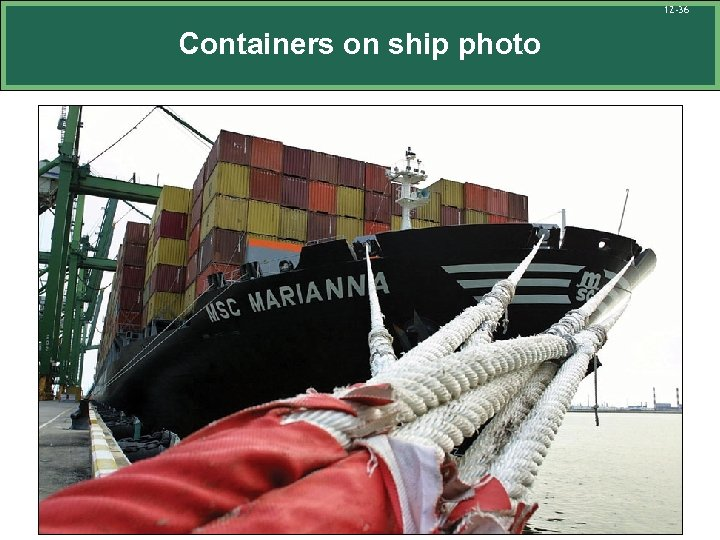 12 -36 Containers on ship photo