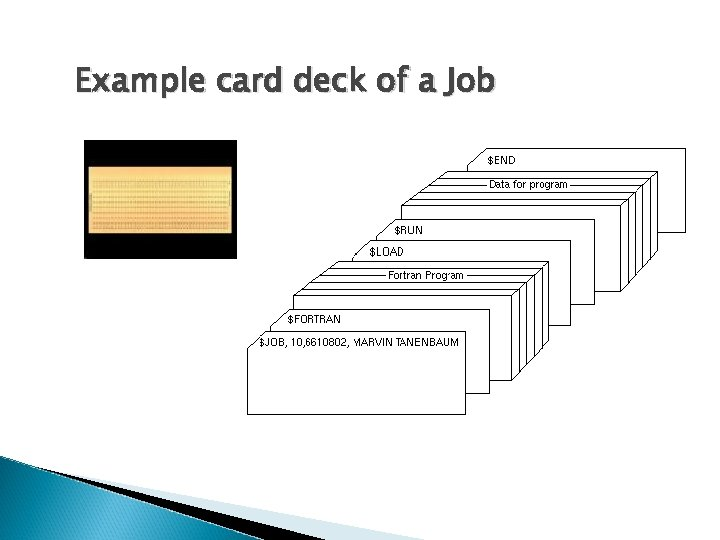 Example card deck of a Job