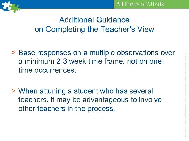 Additional Guidance on Completing the Teacher's View > Base responses on a multiple observations