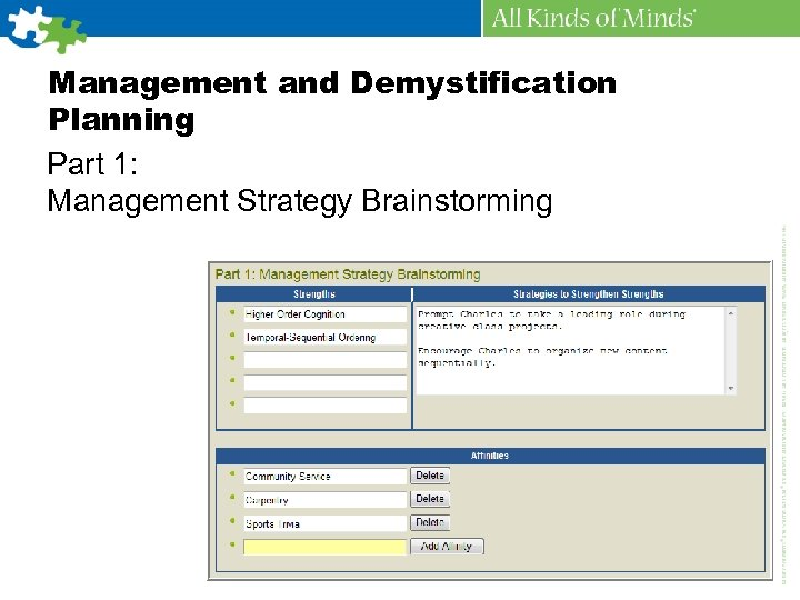 Management and Demystification Planning Part 1: Management Strategy Brainstorming