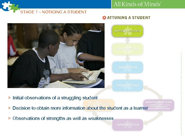 STAGE 1 – NOTICING A STUDENT > Initial observations of a struggling student >