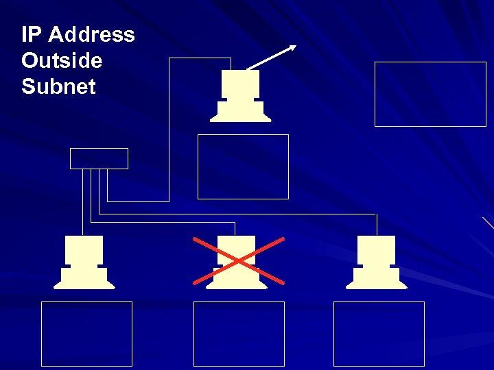 IP Address Outside Subnet