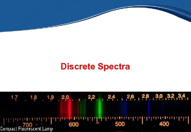 Discrete Spectra