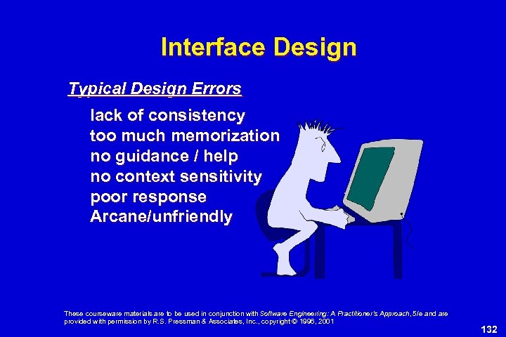 Interface Design Typical Design Errors lack of consistency too much memorization no guidance /