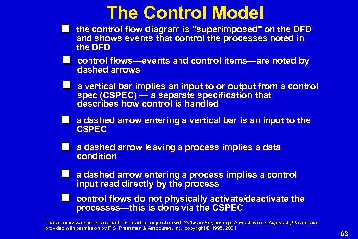 The Control Model the control flow diagram is