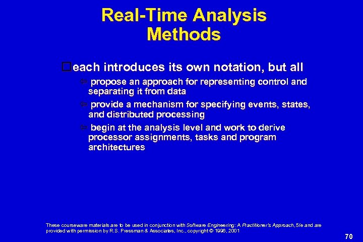 Real-Time Analysis Methods each introduces its own notation, but all propose an approach for