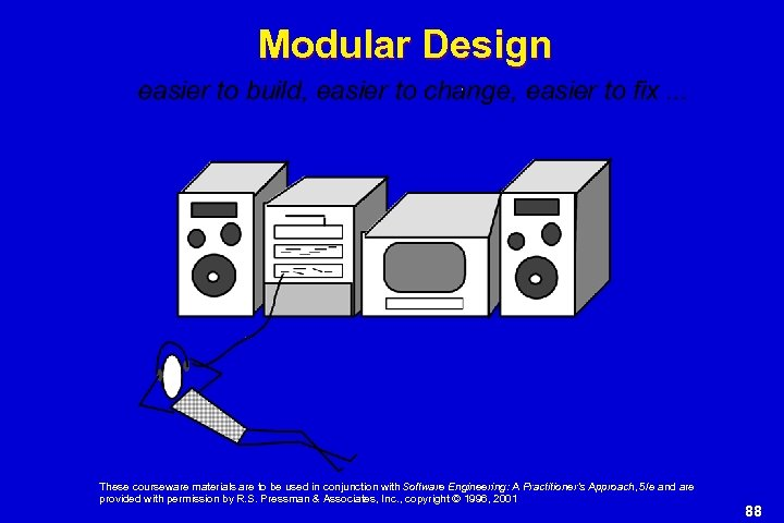 Modular Design These courseware materials are to be used in conjunction with Software Engineering:
