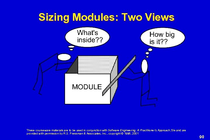 Sizing Modules: Two Views These courseware materials are to be used in conjunction with
