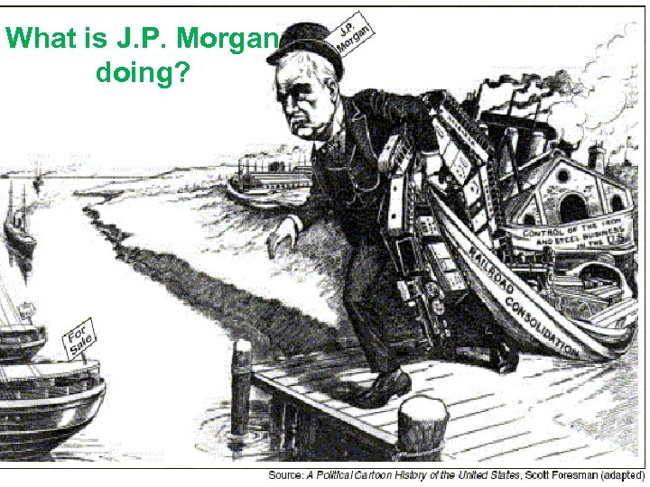 What is J. P. Morgan doing?