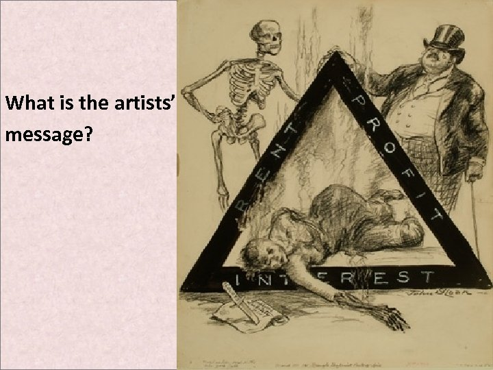 What is the artists' message?