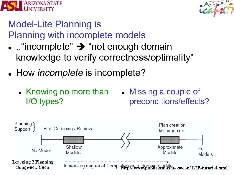 """Model-Lite Planning is Planning with incomplete models . . """"incomplete"""" """"not enough domain knowledge"""