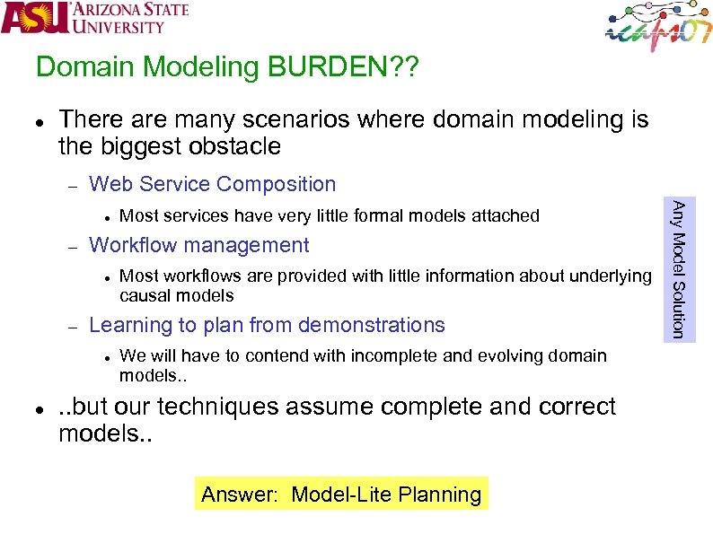 Domain Modeling BURDEN? ? There are many scenarios where domain modeling is the biggest