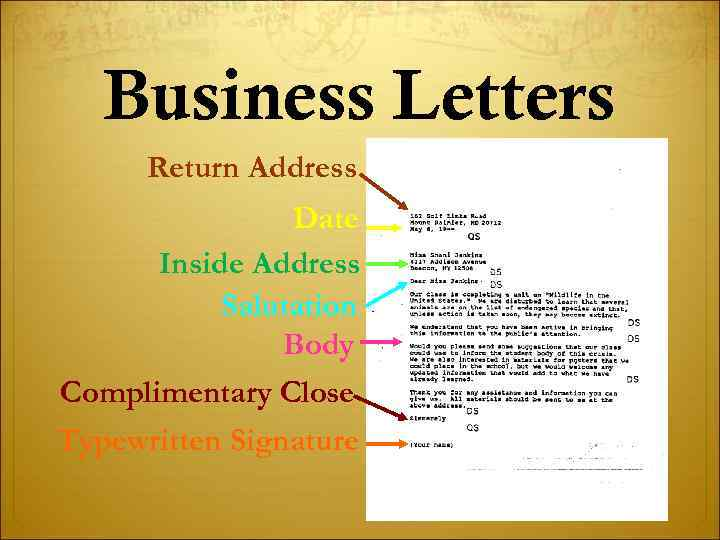 Writing And Laying Out Business Letters