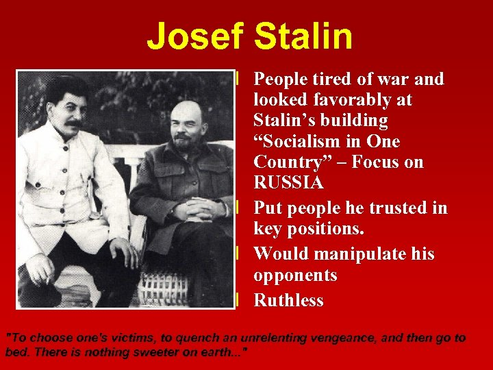 """Josef Stalin l People tired of war and looked favorably at Stalin's building """"Socialism"""