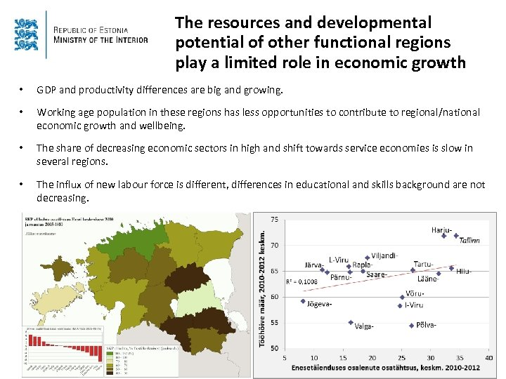 The resources and developmental potential of other functional regions play a limited role