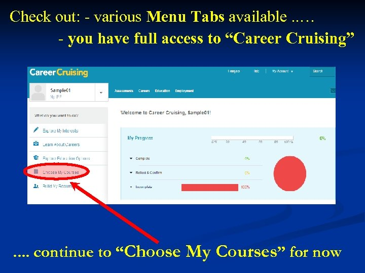 Check out: - various Menu Tabs available. . … - you have full access