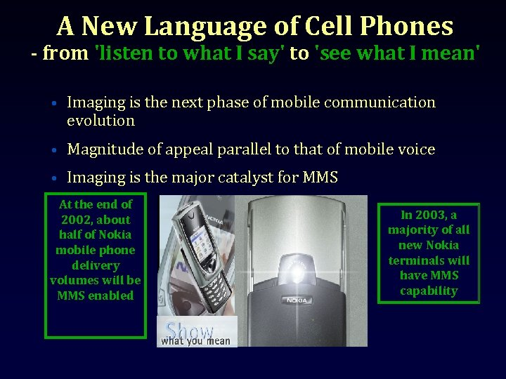 A New Language of Cell Phones - from 'listen to what I say' to