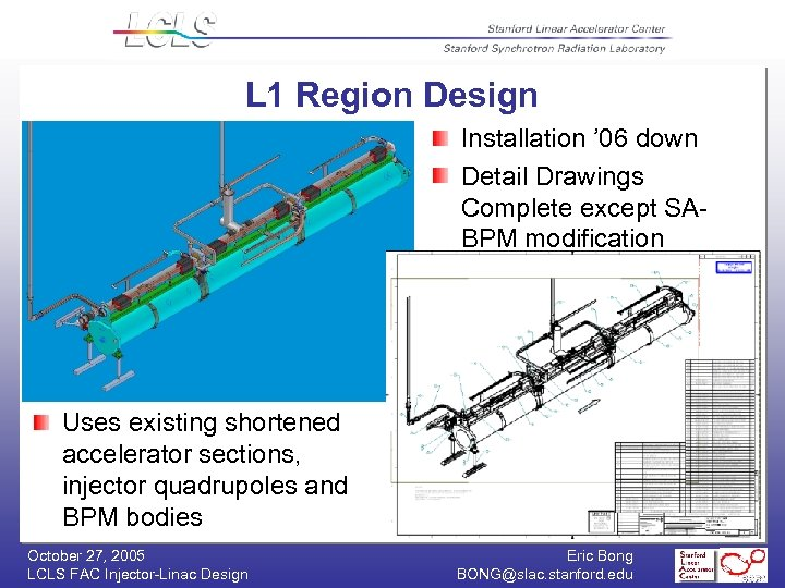 L 1 Region Design Installation ' 06 down Detail Drawings Complete except SABPM modification