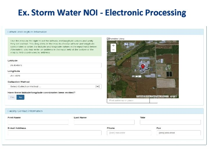 Ex. Storm Water NOI - Electronic Processing