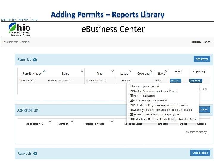 Adding Permits – Reports Library