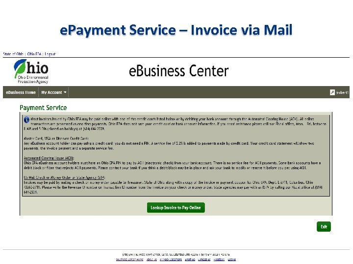 e. Payment Service – Invoice via Mail