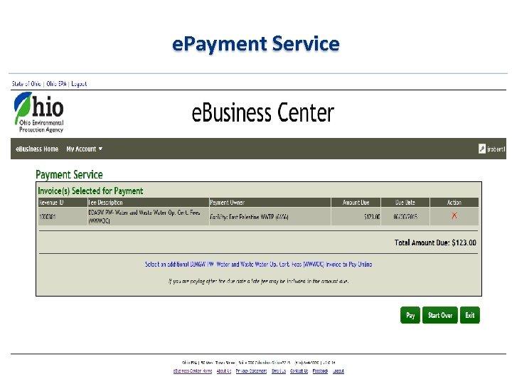 e. Payment Service