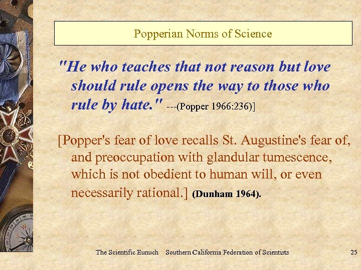 Popperian Norms of Science