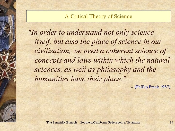 A Critical Theory of Science
