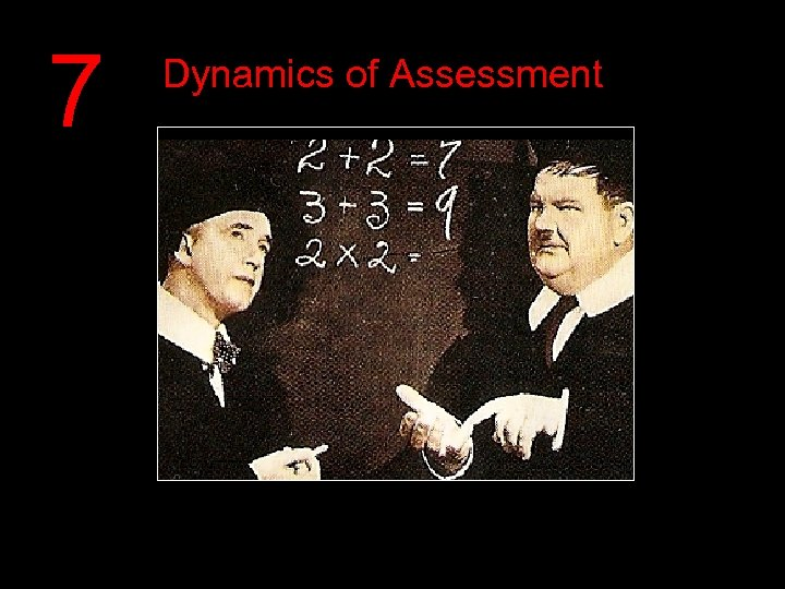 7 Dynamics of Assessment